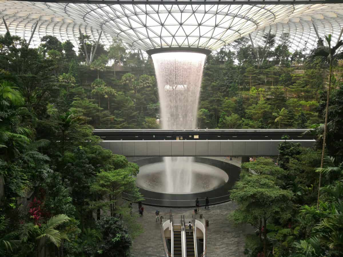 Sunrise at Jewel Changi Airport in Singapore